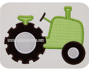 Old Time Tractor Applique Design