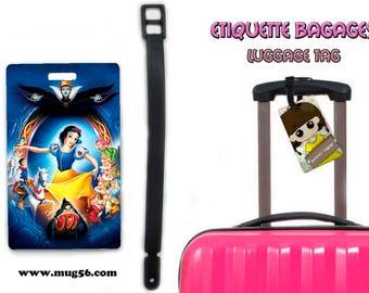 snow white - disney luggage tag