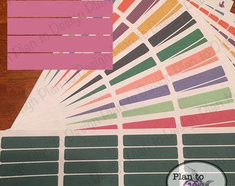 Blank Header Stickers (40) made for 2017-18 Erin Condren Life Planner and Happy Planner