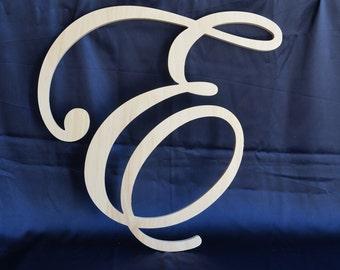 22 inch Script cursive letter - Wedding wall decor- Family room & Cursive letter | Etsy