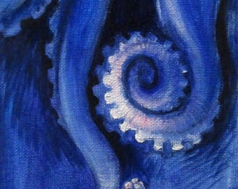 Tentacles - original daily painting by Kellie Marian Hill