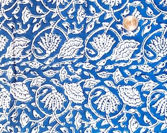 Blue Gathered Lamp Shade, Blue Lampshade, Block Print Lamp Shade, Table Lamp shades for Floor Lamps, Bohemian Lamp Shade, Floral Lampshades