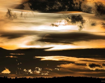 Sunset Photo, Size 12x18 inches, Nature Photography, Lanscape Photography