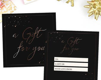 Photography Gift Certificate Template, Black Gift Certificate, PSD Gift Certificate, Instant download 002
