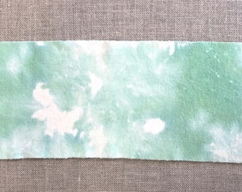 Evergreens - Hand Dyed Wool Fabric Piece used for Rug Hooking and Applique -  Fat Eighth