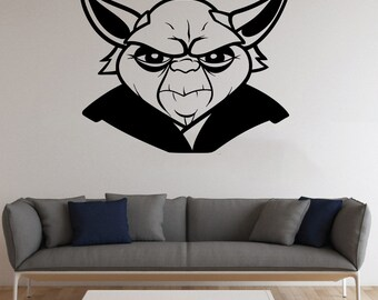 Yoda Master Wall Sticker Yoda Master Vinyl Decal Comics Vinyl Decals Wall Vinyl Decor /12nkl/ & Yoda Master Vinyl Sticker Yoda Master Wall Decal Comics Vinyl