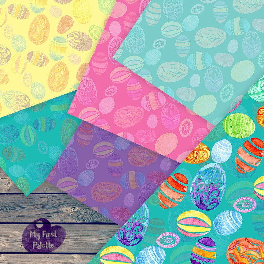 Easter eggs digital paper easter gift wrap printable wrapping this is a digital file negle Choice Image