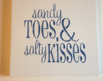 "Sandy toes 14""x14"" wall canvas"