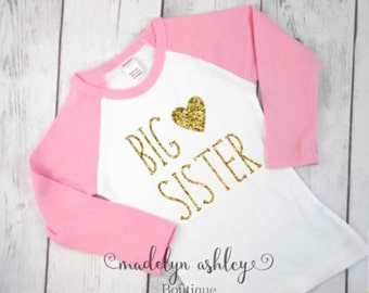 Big Sister Shirt-Big Sister Announcement Shirt-Discontinued Style Limited Sizes Left