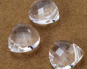 Crystal 6012 Swarovski Crystal Flat Briolette Pendant (15mm x 14mm x 6mm)