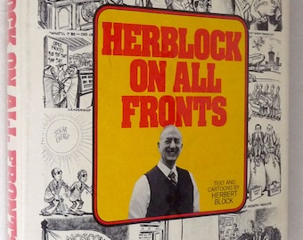 Herblock on All Fronts by Herbert Block 1980 SIGNED 1st Edition Hardcover HC w/ Dust Jacket DJ - Humor Political Cartoons