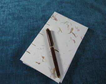 White Slim-line Writing or Sketch Journal.  Item #1021