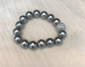 The silver stretch bracelet
