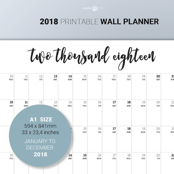 printable wall calender
