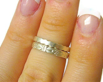 Sterling silver knuckle ring set / Above knuckle ring sterling silver first knuckle ring / Upper knuckle ring above the knuckle / Midi ring