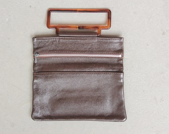 RARE! 1960's Mini Fold Over Clutch - 60's Fold Over Leather Purse