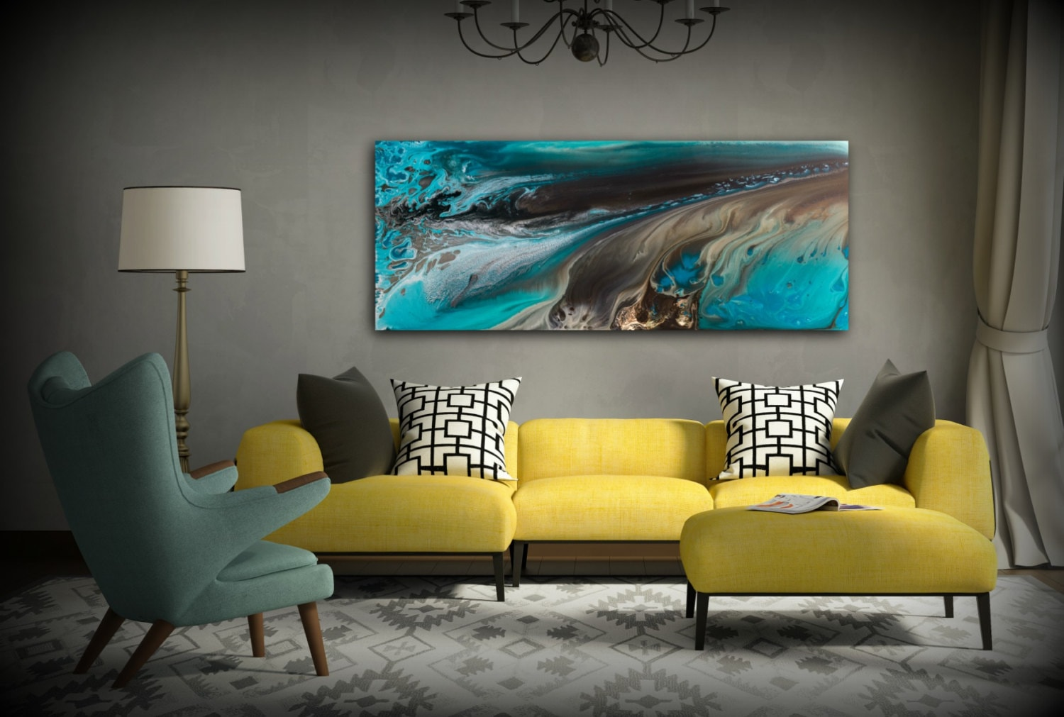GICLEE PRINTS Art Abstract Painting Coastal Home Decor ...