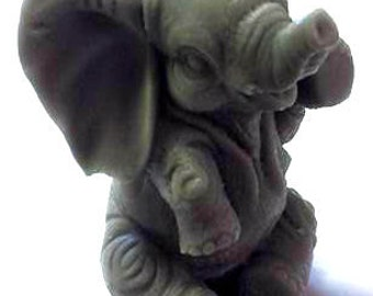 Elephant Soap - Mother's Day Gift - Animal - Realistic - White Elephant Gift - Free U.S. Shipping - 3-Dimensional - You Choose Scent