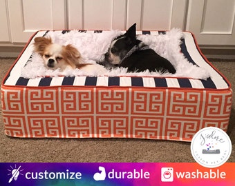 Luxury Pet Bed with your choice of fabrics - Personalisation available