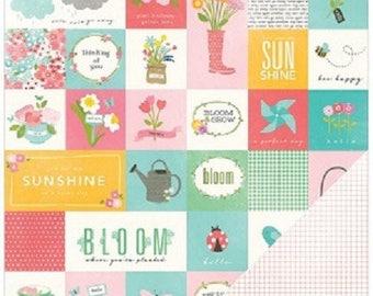 Poppy poppy garden party pattern paper