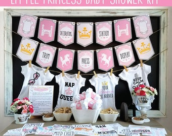 Little Princess Onesie Decorating Kit/ Baby Shower Games/ DIY Onesie  Decorating Station/ 12 Or 18 Transfers + Onesies, Tags, Banners U0026 More