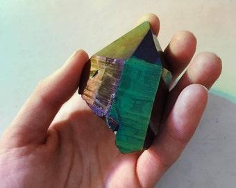 Large Rainbow Titanium Aura Quartz