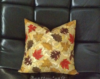 Fall Decor - Autumn Decor - Autumn Leaves Pillow Cover - Fall Pillow Cover - Autumn Pillow - Leaves Pillow Cover