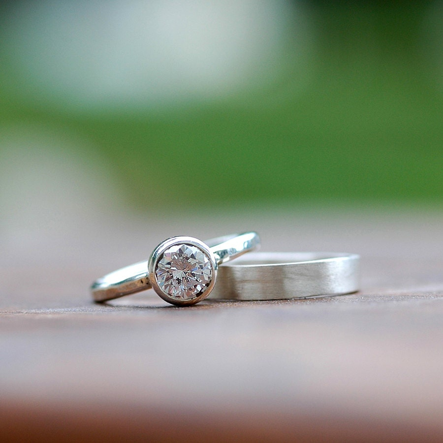 Wedding Ring Set Engagement Ring Wedding Band Bridal