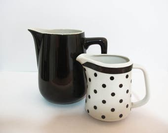 Cute Black & White Spotty Milk Server