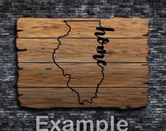 Illinois Home ai  eps  jpg  png  and svg Clipart, Vinyl, Stencil - Cricut - Silhouette Cameo