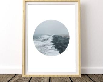 Ocean Waves, Print Beach Ocean, Beach Ocean Print, Coastal Wall Art, Coastal Beach Print, Coastal Decor Print, Ocean Waves Print,