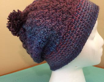 Slouchy Hat - Blue Multi