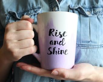 Rise and Shine Hand-painted Mug