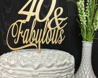 40th cake topper Etsy