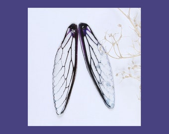 2 Purple Dragonfly Wing Charms - C2686