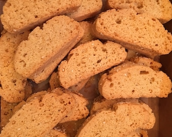 Greek paximathakia cookies, almond paximathia Greek biscotti cookies, Greek memorial service cookies, 1 lb. (about 27 pieces)