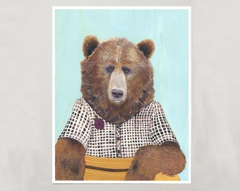 Art Print - Grizzly Bear - Signed by Artist - 3 Sizes - S/M/L