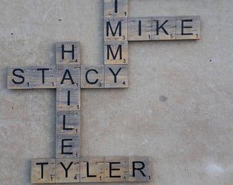 Scrabble Letters for wall - Various sizes and colors