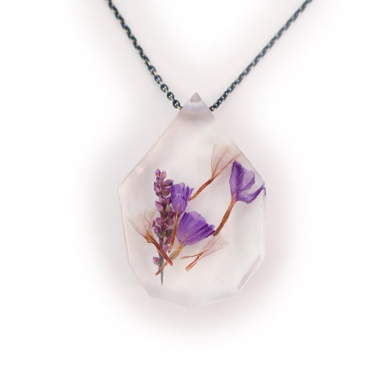 Flower Eco Resin Necklace