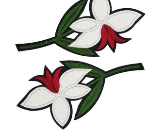 Flowers Embroidered Sewing Patch Applique, Flower Patch for Sewing  Flower Appliques