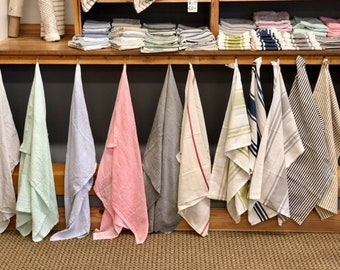 Hand Dyed flour sack tea towels