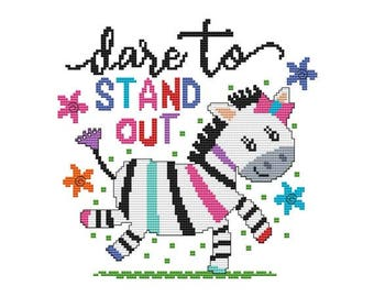 Dare To Stand Out Switch Counted Cross Stitch PDF Pattern
