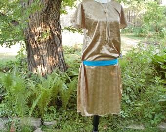 OOAK Art Deco Flapper Dress (Medium)