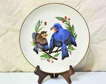 "Gunther Granget's ""Four Seasons"" Vintage Plate ""The Fledgling"" 1978"