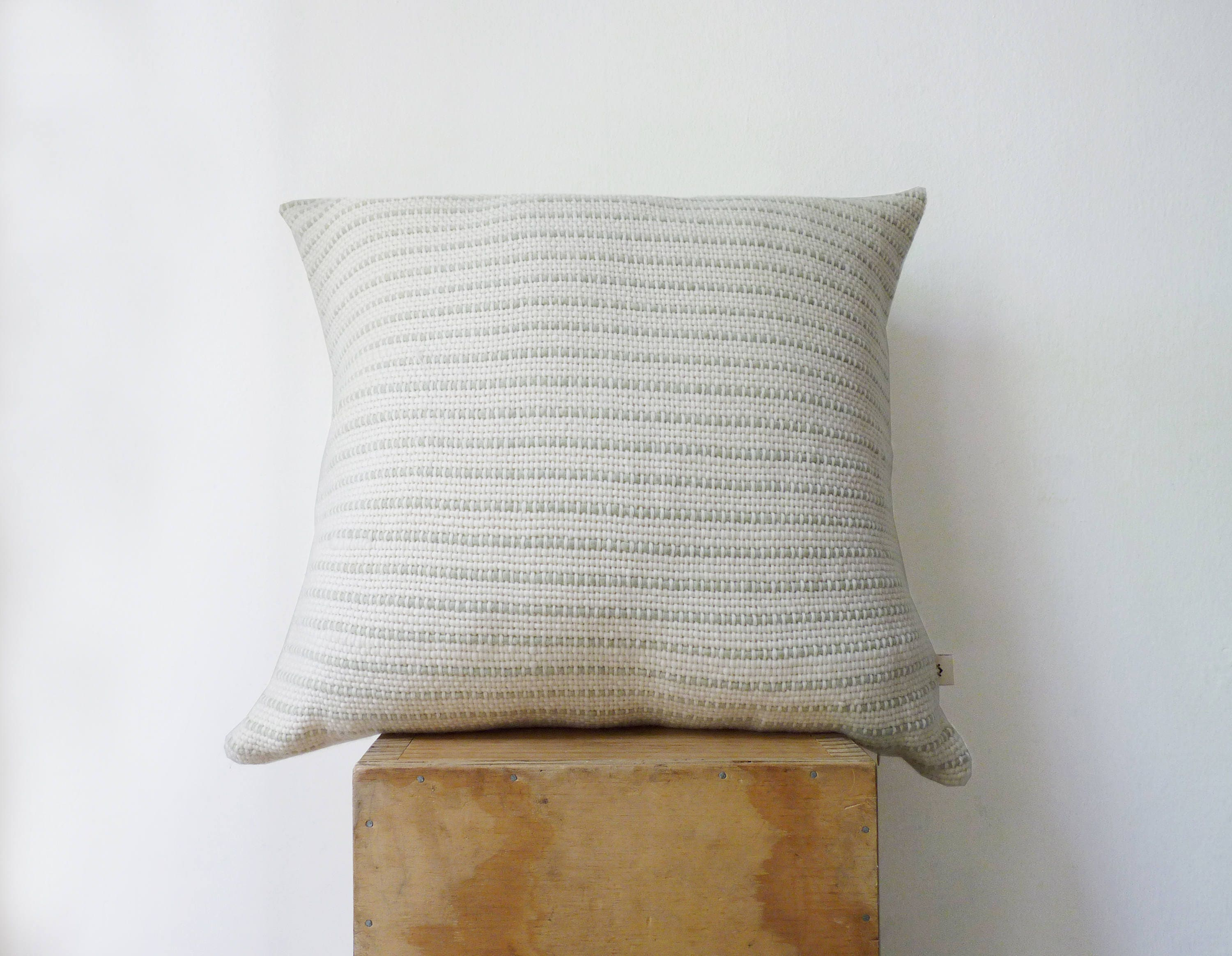 Wool woven pillow case Wool cushion cover Minimalist throw