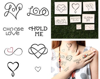 Heart Attack - Temporary Tattoo Pack (Set of 16)