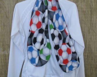 Multi Color Soccer Fleece Scarf