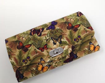 Necessary Clutch Wallet in Butterfly fabric
