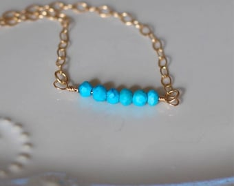 Dainty Turquoise Choker Necklace, Turquoise Necklace, Choker Necklace, Gifts For Her