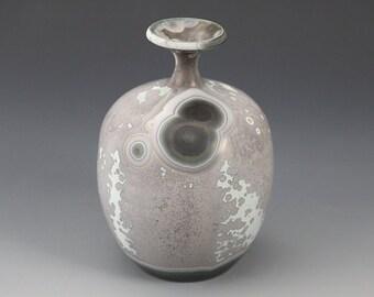 "Small Vase - Crystalline Glaze ""Milky Way"""